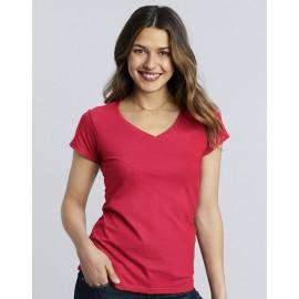Tricou V-neck Olivia - Gildan
